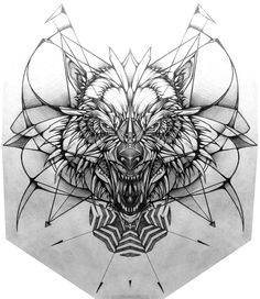 Idea Wolf Tattoo Geometric