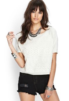 Embroidered Knit Top | FOREVER21 #SummerForever