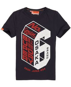 Shop for men's t-shirts at Superdry. High quality t-shirts with inspired prints and graphics. T Shirt Text Design, Tee Design, Boys T Shirts, Tee Shirts, T Shirts For Women, Team Logo, Polo Shirt Outfits, Streetwear, Herren T Shirt