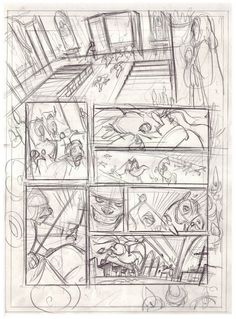 Federico Bertolucci roughs. Great variety of panels.