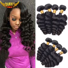 Brazilian Virgin Hair Loose Wave 4Bundles Brazilian Loose Wave 7A Unprocessed Brazilian Hair Weave Bundles 100% Human Hair Soft -- Locate the offer simply by clicking the image