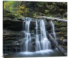 Buy positive energy horizontal wall art photo Seneca Falls, Ricketts Glen State Park, Pennsylvania by Tim Fitzharris, which is available for sale in our fine art waterfall photos collection. This posi