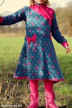 Kombiebook Jerseykleid Lillith Gr. 74-158 Nähanleitung und Schnittmuster - Nähanleitungen bei Makerist Refashion, Clothing Patterns, Kids Outfits, Kids Fashion, Wrap Dress, Lady, How To Make, Handmade, Clothes