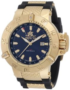 Invicta Men's 1150 Subaqua Noma III GMT Blue Dial Black Polyurethane Watch - http://www.specialdaysgift.com/invicta-mens-1150-subaqua-noma-iii-gmt-blue-dial-black-polyurethane-watch/