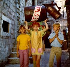 Pippi with an explosive barrel