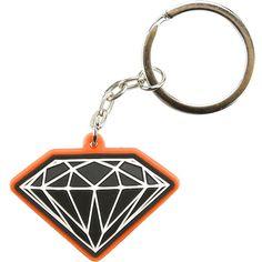 Diamond Supply Co Black Red Rubber 3D OG Sign Key Chain