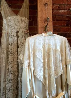 Lovely lace pieces in Christine Lingerie's studio.