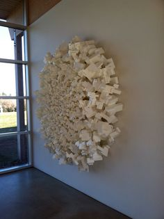 "Gale [polystyrene 72"" x 72"" x 20""] installed at Art Omi Visitor Center 2012"