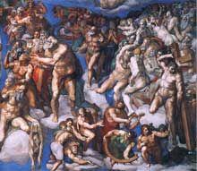 Le Jugement Dernier Rome La Chapelle Sixtine Vatican Les Fresques De Michel Ange