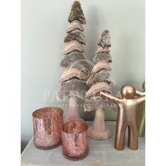 Windlichten craquelé glas koper J-Line @ Paintura Home webshop #kerstbomen #strass #rosegoud #windlichten #kerstdeco #gezellig #onlineshop #painturahome #kerst #sfeer