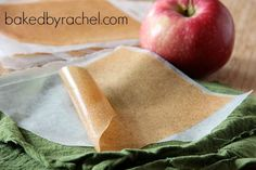 Apple Cinnamon Fruit Leather Recipe from Baked by Rachel - Put a fun fall snack in your kids' lunches with this homemade fruit leather recipe.