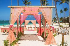 Stunning beach wedding gazebo !!! I want that for my wedding ! jellyfish punta cana wedding. {crystal + terry}