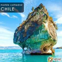 The marble caves is an intricate  geological formation of water-filled caverns and is set in the General Carrera lake in Chile's Patagonia. We can find Marble Caves, Marble Cathedral and Marble Chapel  and they represent a group of caverns, columns and tunnels formed in monoliths of marble. The colourful caverns are formed by more than 6000 years of wave action. The intensity and hue of the cave's wall vary depending on water levels and time of the year.
