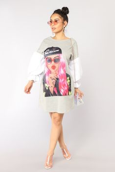Danica Dress - Heather Grey