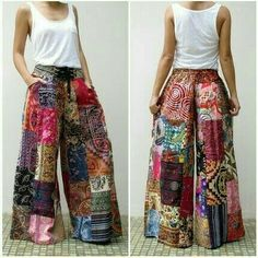 Patchwork Boho Pants- Patchwork Boho Pants Bohemian clothing, patchwork, hippie outfit - Source by primitiveriches clothes bohemian Gypsy Pants, Boho Pants, Hippie Pants, Comfy Pants, Gypsy Skirt, Lounge Pants, Gypsy Style, Hippie Style, Bohemian Gypsy