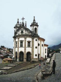 Igreja de Nossa Senhora do Rosário (Church of Our Lady of Rosary) - Oura Preto (UNESCO World Heritage Site), Brazil