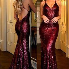 Sexy Sequined Prom Dresses,Burgundy V-Neck Open Back Prom Dress, Mermaid Evening. - Sexy Sequined Prom Dresses,Burgundy V-Neck Open Back Prom Dress, Mermaid Evening Gowns – Source by - Cheap Prom Dresses Uk, Open Back Prom Dresses, Prom Dresses 2018, Backless Prom Dresses, Prom Party Dresses, Sexy Dresses, Dress Prom, Long Dresses, Sequin Prom Dresses