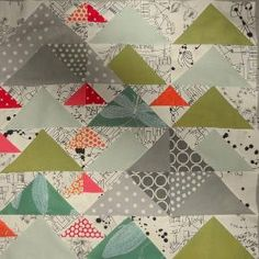 modern baby quilt idea by sondra
