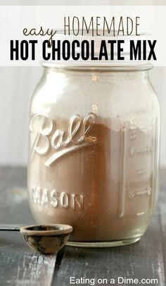 this Easy Homemade Hot Chocolate Mix - it tastes amazing and will save you about off from buying it in the store.**Try this Easy Homemade Hot Chocolate Mix - it tastes amazing and will save you about off from buying it in the store. Homemade Dry Mixes, Homemade Spices, Homemade Seasonings, Do It Yourself Food, Hot Cocoa Mixes, Hot Chocolate Recipes, Dark Chocolate Hot Cocoa Recipe, Spanish Hot Chocolate Recipe, Chocolate Diy