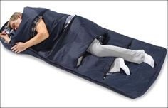 Zippered Vents Sleeping Bag where have you been all my camping life??