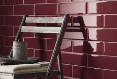 Picture of Edge Bevel Wall Tile Burgundy (prugna)