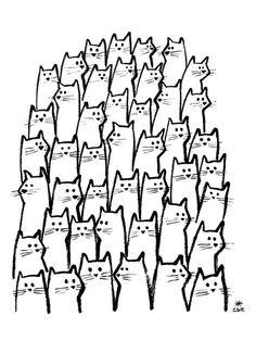 animal black and white cat cute doodle draw illustration kawaii Katzen katzen Art Doodle, Doodle Drawing, Cat Drawing, Cat Kawaii, Kawaii Art, Kawaii Style, Crazy Cat Lady, Crazy Cats, Cute Cats