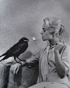 Tippi Hedron , 1963, she put up with the torture of Hitchcock for The Birds and Marnie, a very strong blonde indeed.woman.