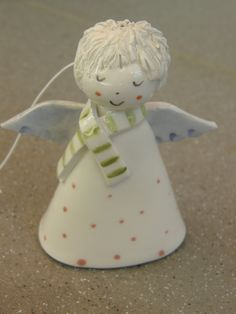Your place to buy and sell all things handmade Christmas Clay, Christmas Bells, Christmas Angels, Christmas Decorations, Christmas Ornaments, Crochet Christmas, Clay Projects, Clay Crafts, Clay Angel