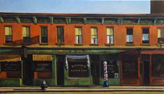 Early Sunday Morning by Edward Hopper Home Decor Wall Decor Giclee Art Print Poster A4 A3 A2 Large Print FLAT RATE SHIPPING