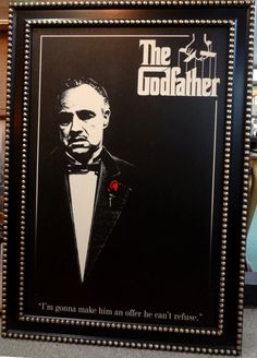 The Godfather movie theater framed art.