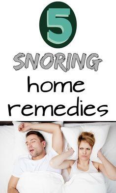 5 snoring home remedies