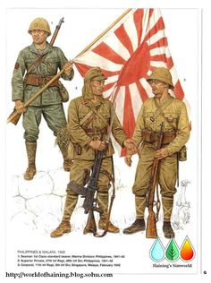 Japanese soldiers Philippines and Malaya 1942