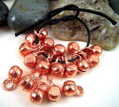 30 Tiny Copper Bells Bright Copper Bells India by EthnicBeadShop, $3.25
