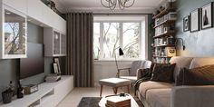 Kad sve lijepo stane u dvosobni stan od 40 kvadrata - Jutarnji List Flat Ideas, Small Living Rooms, Small Apartments, Kitchen Interior, Dining Bench, Sweet Home, Indoor, House Design, Interior Design