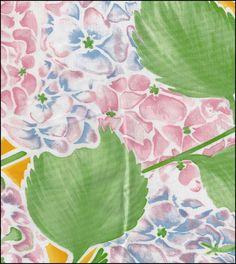 Hydrangea Yellow Oilcloth
