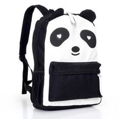 Dressing up as a Panda? Wear this cute bag, so it'll look like you're carrying your kid pana on your back ^^