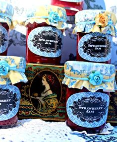 Lovely jam favors at a Tea Party #tea #party