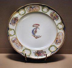 [Plate of Maria Carolina of Naples service] | Museum Documentation Centre - Decorative Arts