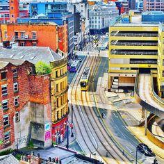 "Colourful #Manchester summer"" by  @ricktphotography  .  .  .  #Manchester #manchestereveningnews #mcr #mcruk #igersmcr #ilovemcr #aerial #city #view #colour #tram #tracks #photography #photooftheday #instadaily #buildings #architecture #urban #england #igers #summer #sun #cityscape #skyline #sky #nikon #nikond3300"