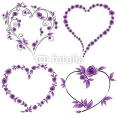 Rose heart tattoo