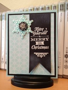 Festive Flurry ~  Carla Clements, Stamp set(s) - Festive Flurry, Merry Little Christmas Inks/papers/ribbon - whisper white, coastal cabana, basic black Big shot- festive flurry framelits Embellishments - frosted finishes  Inspired by: Leah Weir