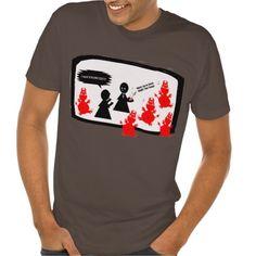 Exorcise Exercise Your Demons Funny Cartoon Tshirts