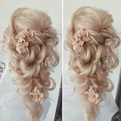 Beautiful hair do by @ulyana.aster ❤️❤️ AMAZING!!!! #bridalhair #hairstyle #bridalhairstyle #weddinghair