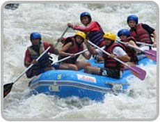 White water rafting in Phuket in the Phang nga province-