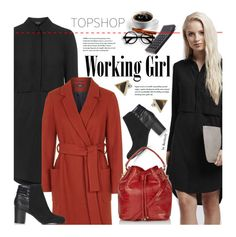 """""""Topshop Work Wear"""" by beebeely-look ❤ liked on Polyvore featuring Topshop, WorkWear, dress, dresses, Work and topshop"""