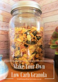 Banting Granola Recipe & WIN With Food Lovers Market - The Blessed Barrenness Banting, Lchf, Keto, Healthy Everyday Meals, Coconut Flower, Low Carb Granola, Cinnamon Almonds, Tray Bakes, Vegan Vegetarian