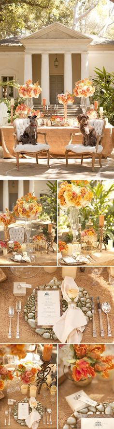 Peach Wedding Color Palettes--don't love everything but the general idea