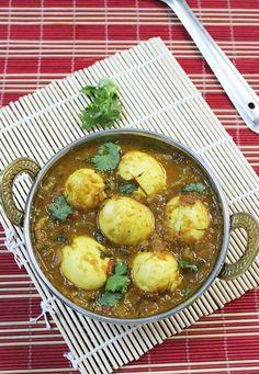 egg masala curry recipe to pair with biryani, chapathi, pulao.