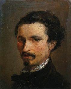 Autore: Silvestro Lega; Titolo: Autoritratto; Data: 1853; Tecnica: olio su tavola, 12 x 10 cm; Luogo di conservazione: Galleria degli Uffizi, Firenze