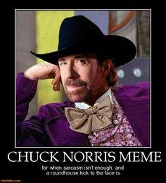 demotivational poster Chuck Norris Meme